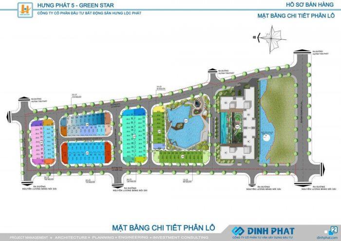 mặt bằng chi tiết dự án biệt thự nhà phố green star quận 7