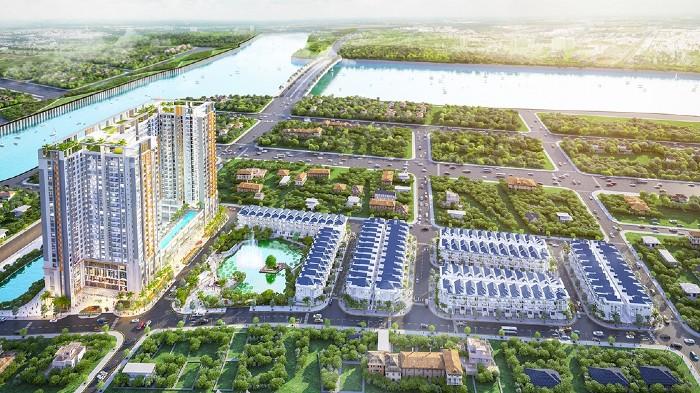 Phối cảnh dự án căn hộ green star sky garden quận 7